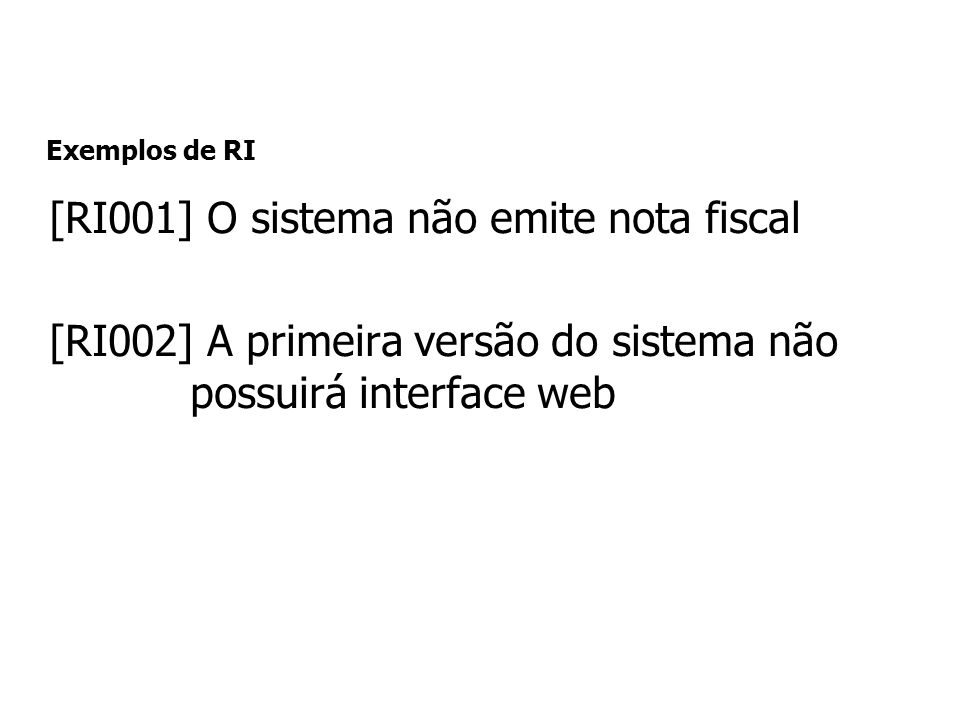 [RI001] O sistema não emite nota fiscal